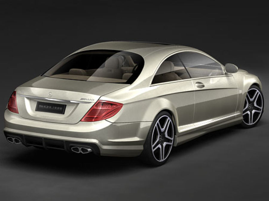 Mercedes CL AMG 2007-2011 royalty-free 3d model - Preview no. 7