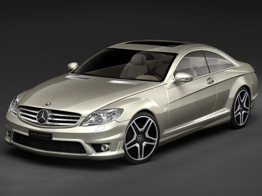 Mercedes CL AMG 2007-2011 royalty-free 3d model - Preview no. 1