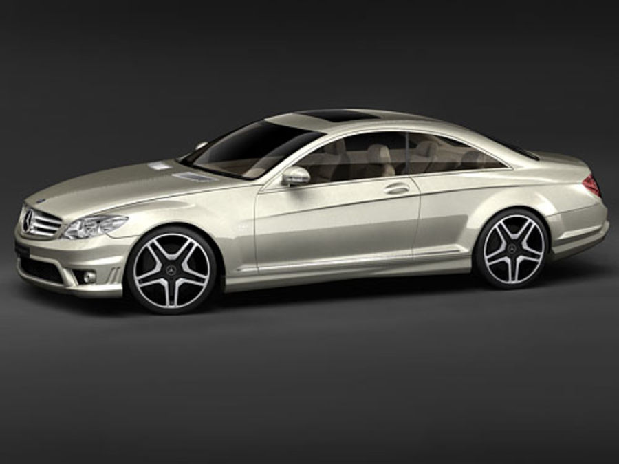Mercedes CL AMG 2007-2011 royalty-free 3d model - Preview no. 2
