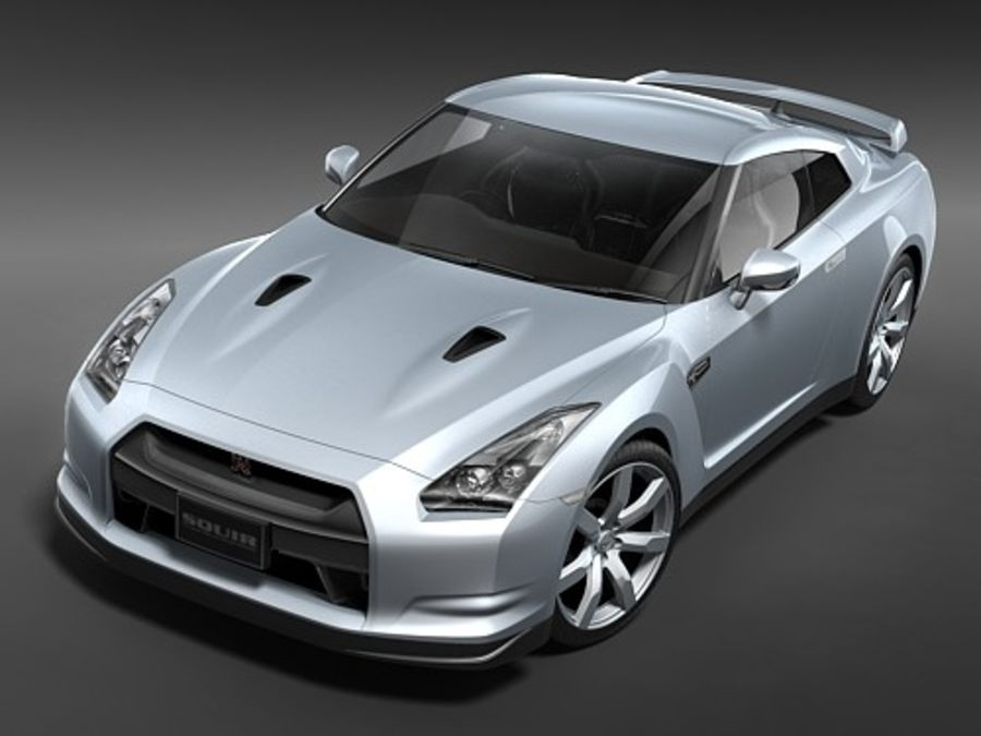 Nissan GTR 2008-2010 royalty-free 3d model - Preview no. 4