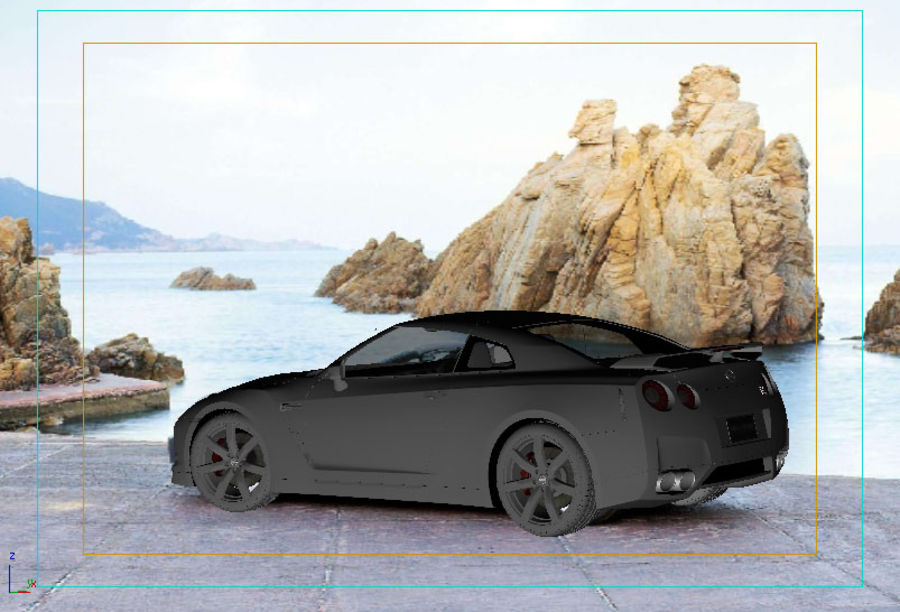 Nissan GTR 2008-2010 royalty-free 3d model - Preview no. 2