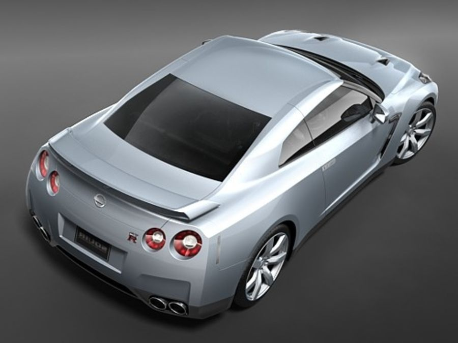 Nissan GTR 2008-2010 royalty-free 3d model - Preview no. 9