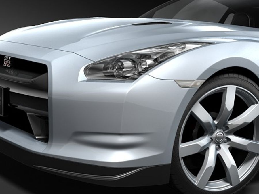 Nissan GTR 2008-2010 royalty-free 3d model - Preview no. 5