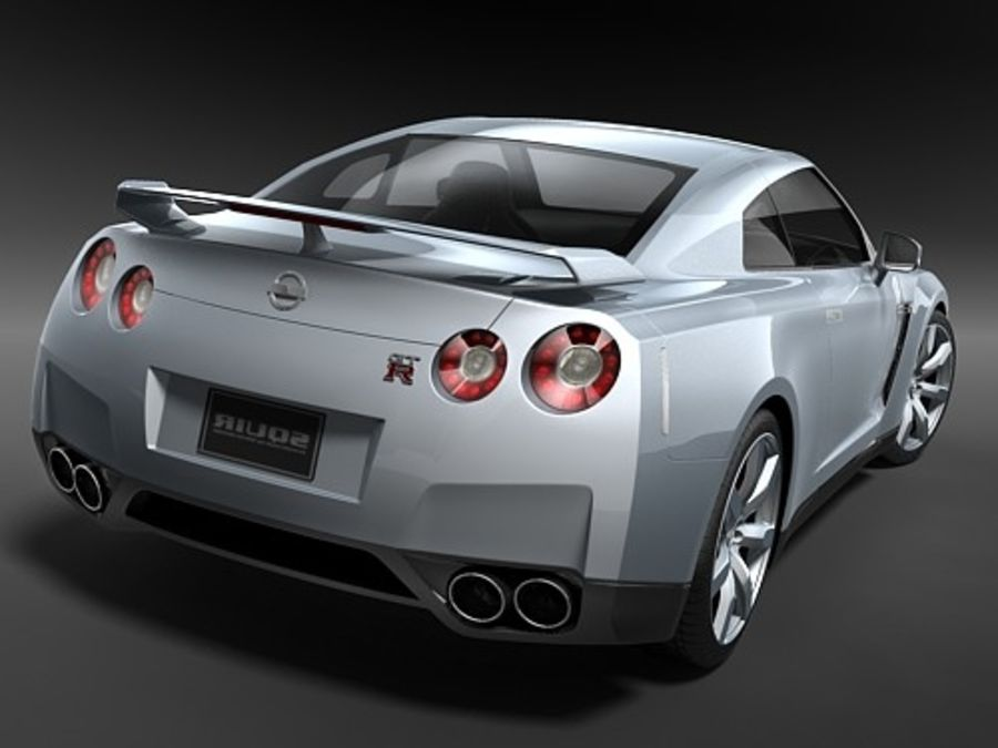 Nissan GTR 2008-2010 royalty-free 3d model - Preview no. 8