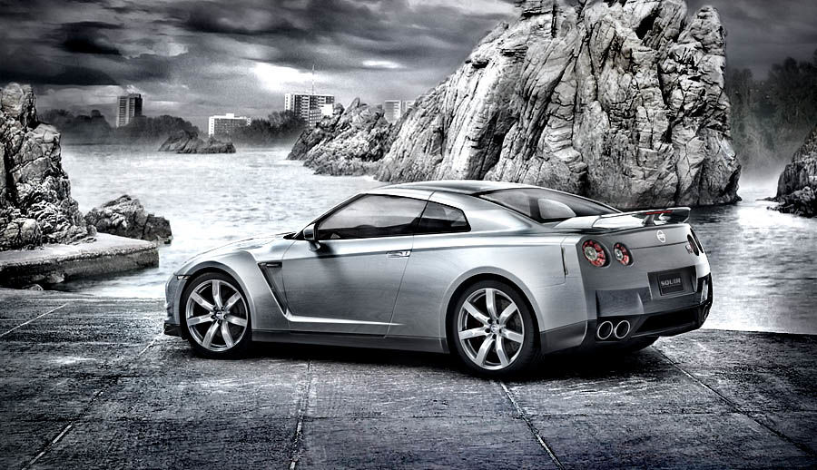Nissan GTR 2008-2010 royalty-free 3d model - Preview no. 1