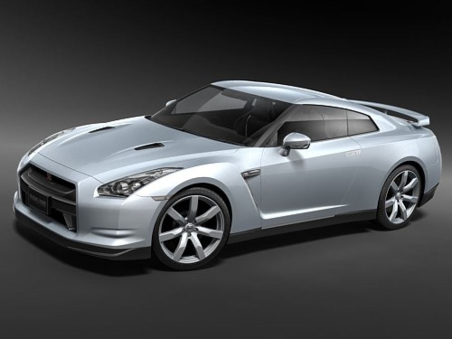 Nissan GTR 2008-2010 royalty-free 3d model - Preview no. 3