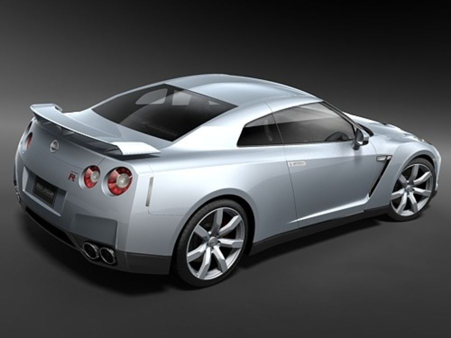 Nissan GTR 2008-2010 royalty-free 3d model - Preview no. 7