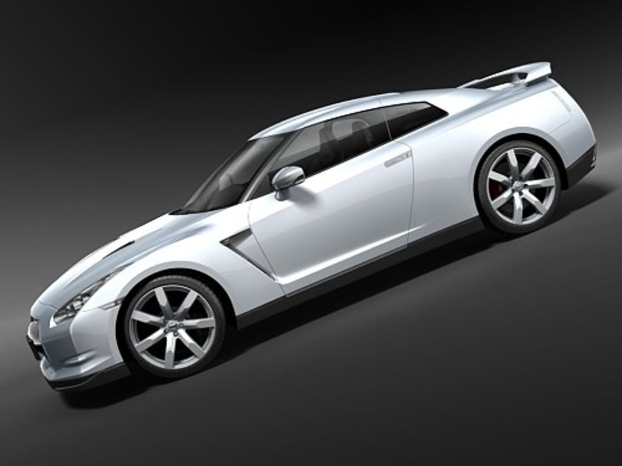 Nissan GTR 2008-2010 royalty-free 3d model - Preview no. 6