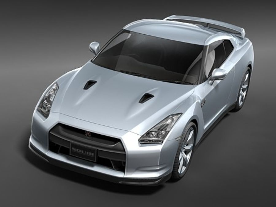 Nissan GT-R 2008 midpoly royalty-free 3d model - Preview no. 2