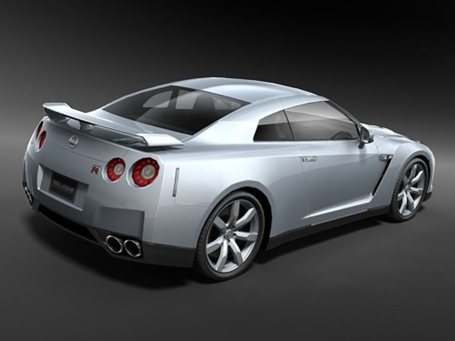 Nissan GT-R 2008 midpoly royalty-free 3d model - Preview no. 5