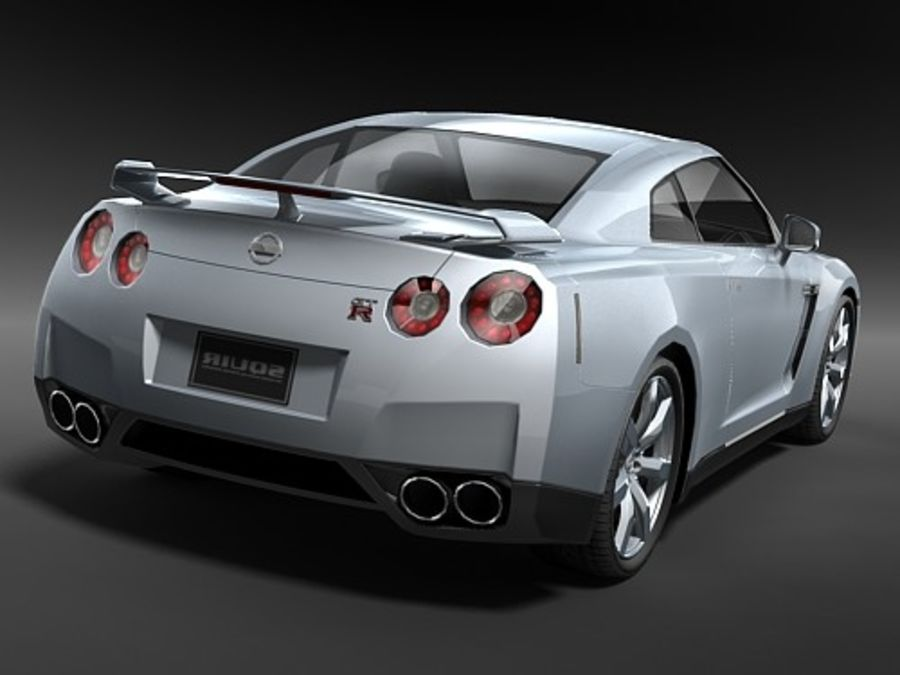 Nissan GT-R 2008 midpoly royalty-free 3d model - Preview no. 6