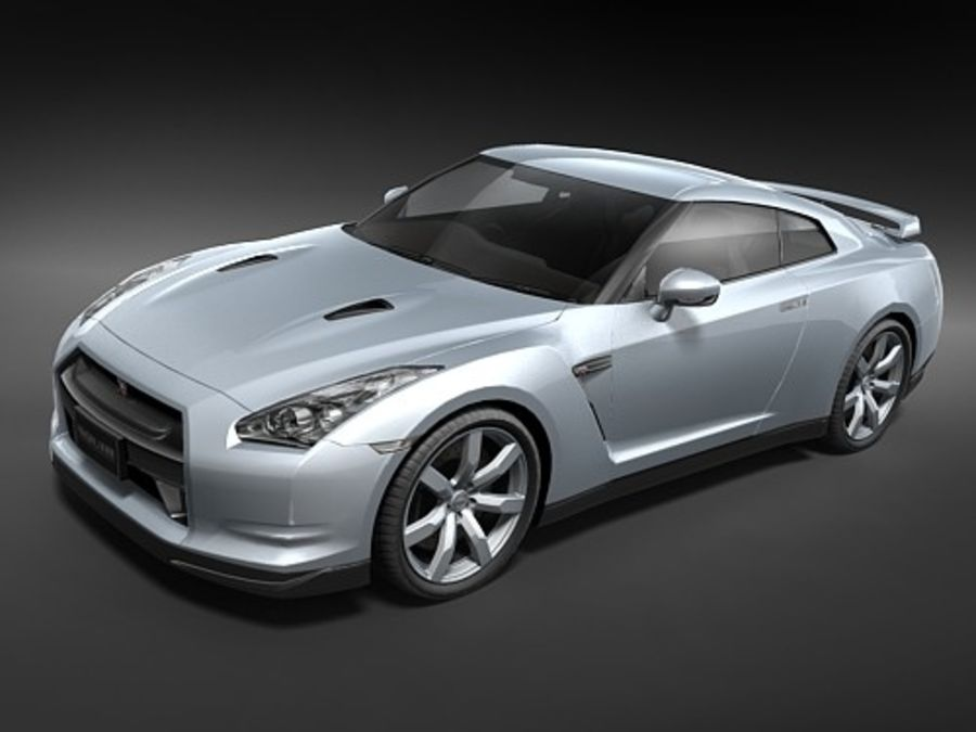 Nissan GT-R 2008 midpoly royalty-free 3d model - Preview no. 1