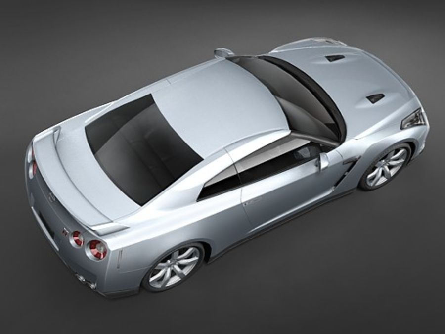 Nissan GT-R 2008 midpoly royalty-free 3d model - Preview no. 4