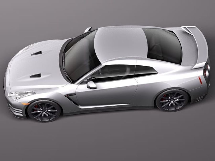 Nissan GT-R 2011 royalty-free 3d model - Preview no. 8