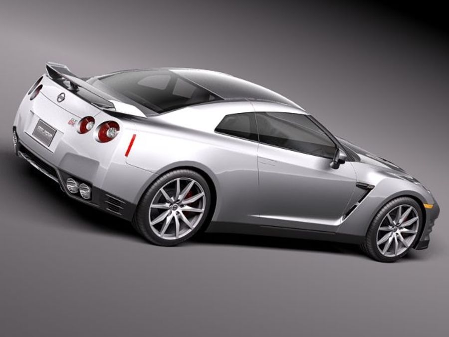 Nissan GT-R 2011 royalty-free 3d model - Preview no. 5