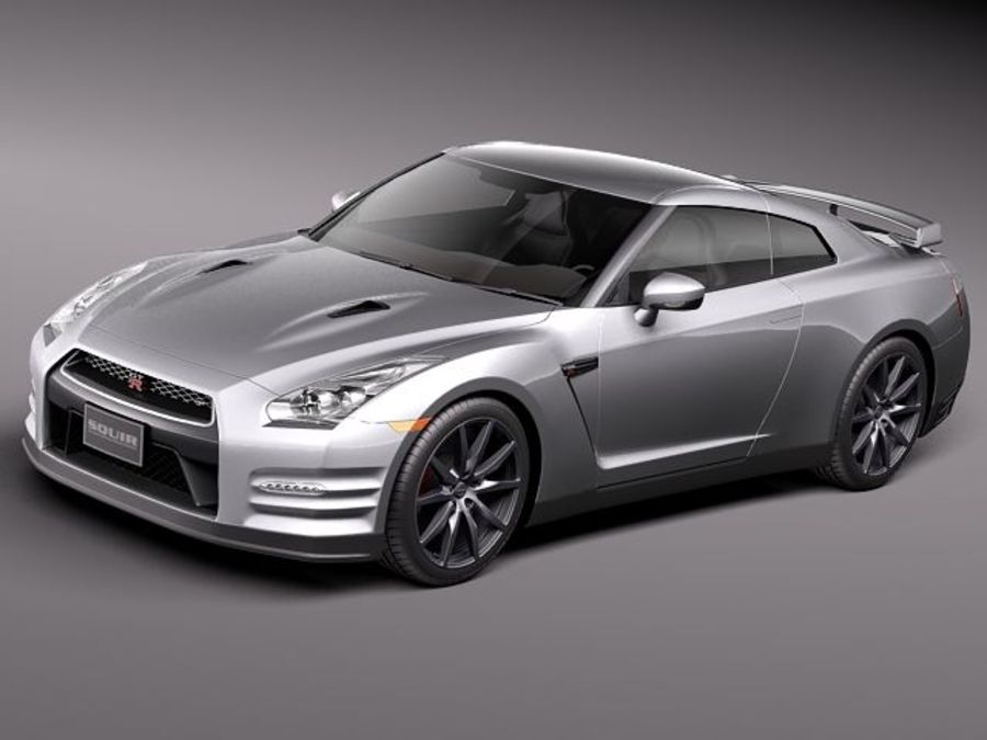 Nissan GT-R 2011 royalty-free 3d model - Preview no. 1