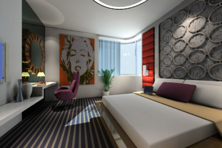 ggs_guest room_013 royalty-free 3d model - Preview no. 5
