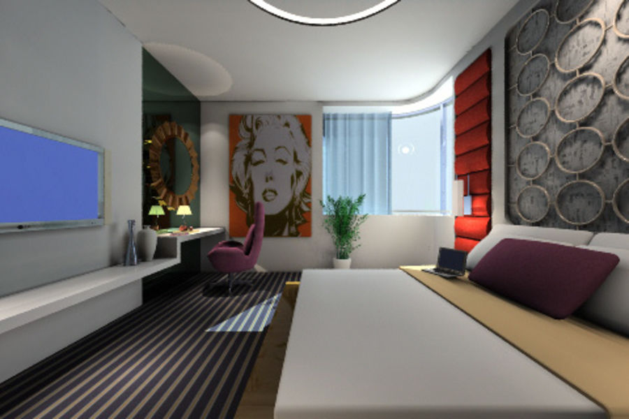 ggs_guest room_013 royalty-free 3d model - Preview no. 1