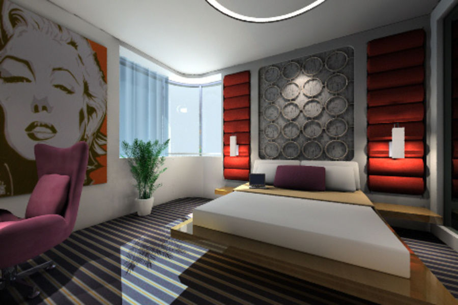 ggs_guest room_013 royalty-free 3d model - Preview no. 3