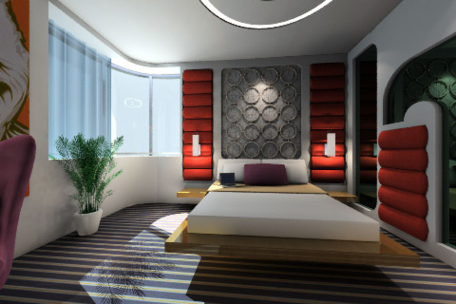ggs_guest room_013 royalty-free 3d model - Preview no. 2