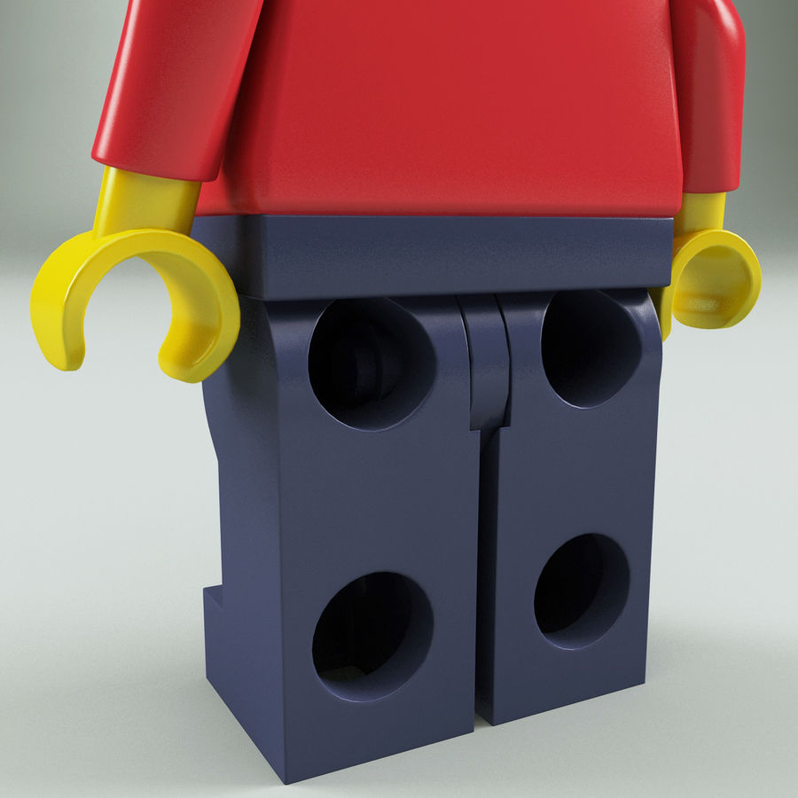 Lego man royalty-free 3d model - Preview no. 11