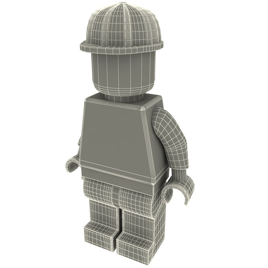Lego man royalty-free 3d model - Preview no. 12
