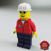 Hombre lego modelo 3d