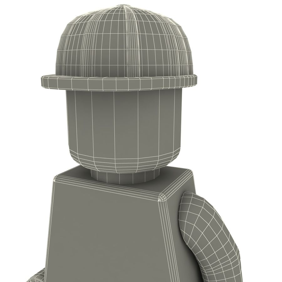 Lego man royalty-free 3d model - Preview no. 14