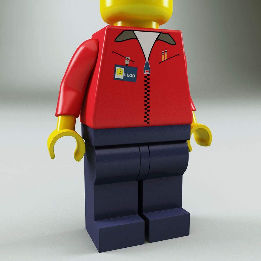Lego man royalty-free 3d model - Preview no. 8