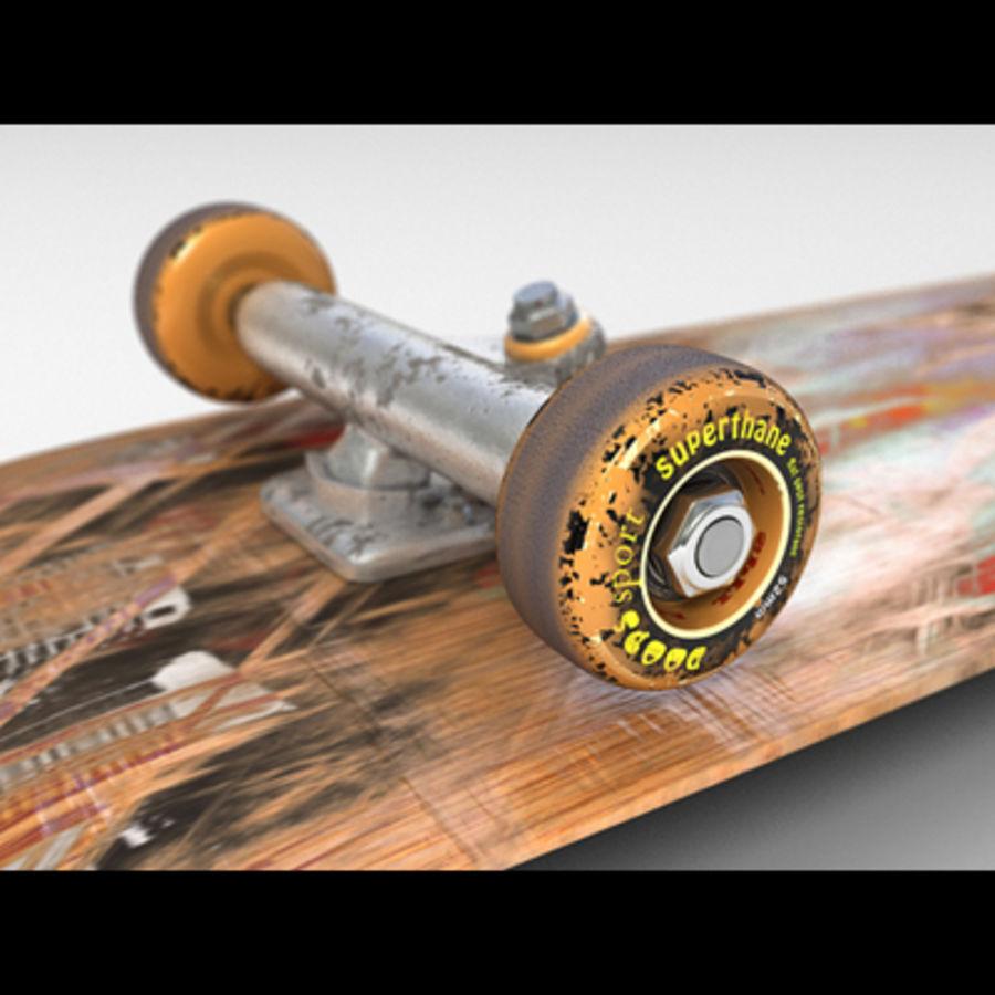 Skateboard royalty-free 3d model - Preview no. 5