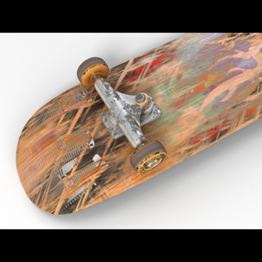 Skateboard royalty-free 3d model - Preview no. 7