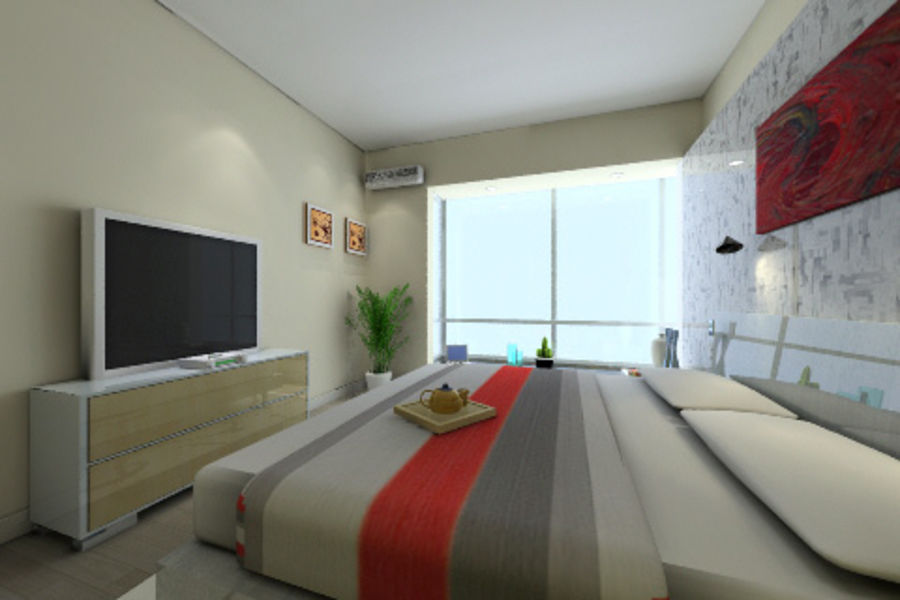 ggs-guest room_014 royalty-free 3d model - Preview no. 1