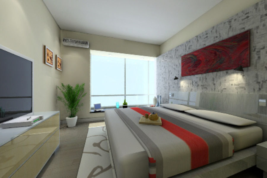 ggs-guest room_014 royalty-free 3d model - Preview no. 5