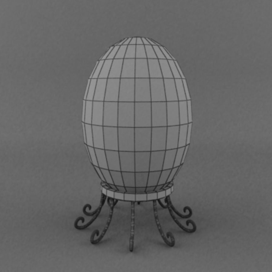 Easter egg royalty-free 3d model - Preview no. 4