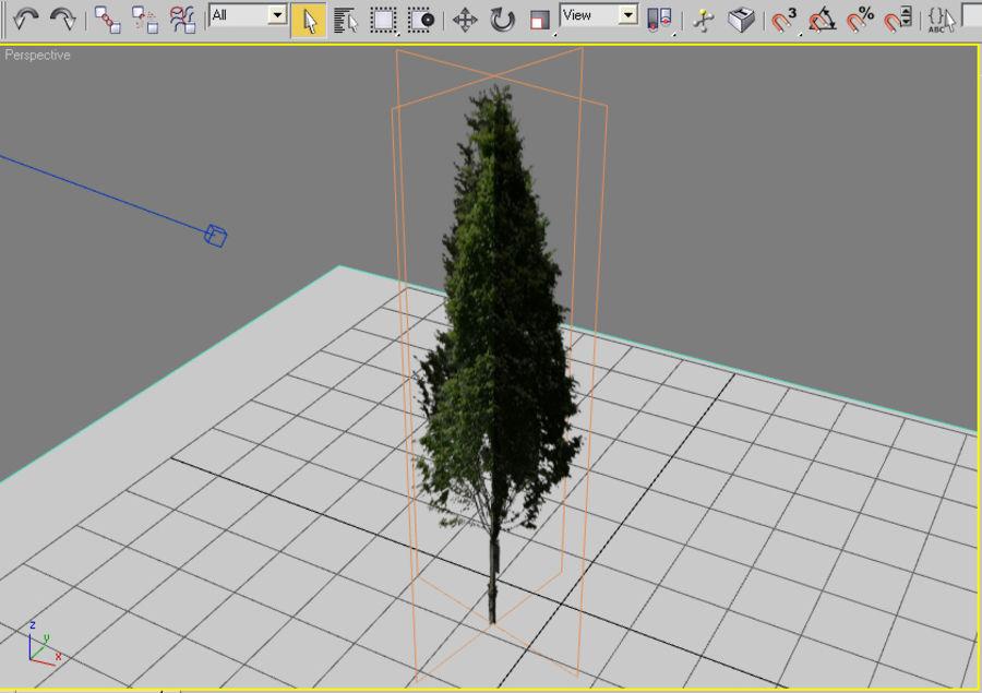 Drzewo 18 (niskie poli) royalty-free 3d model - Preview no. 4
