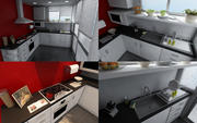 Highly detailed Kitchen 3d model