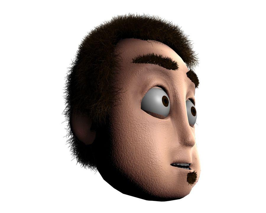 Cartoon Character Head- Clint 3D Model $4 -  unknown  obj  fbx  3ds