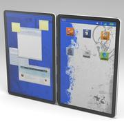 Dual Screen Tablet Computer 3d model