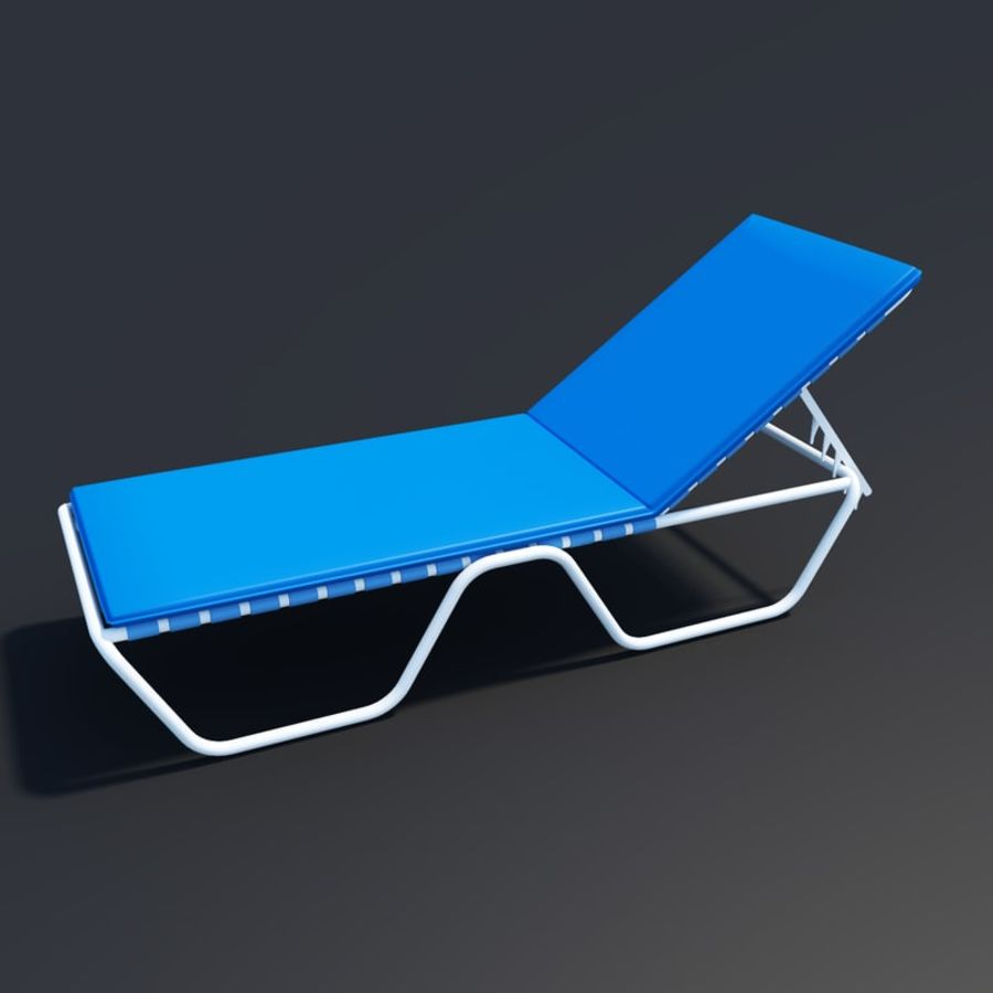 Beach chair royalty-free 3d model - Preview no. 1