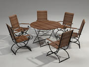 Garden Furniture Set - 6 person 3d model