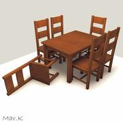 Dinner Table and chairs 3d model