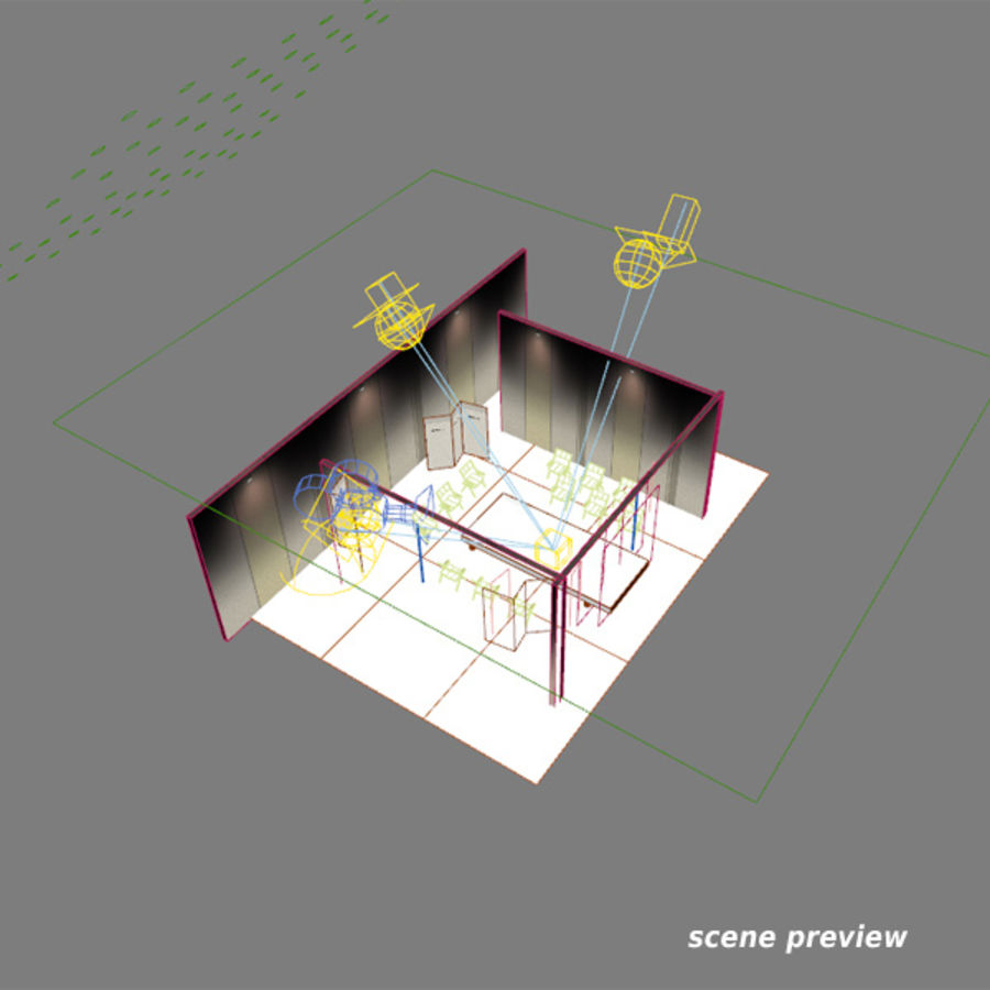 Studio TV Showroom Catwalk royalty-free 3d model - Preview no. 6