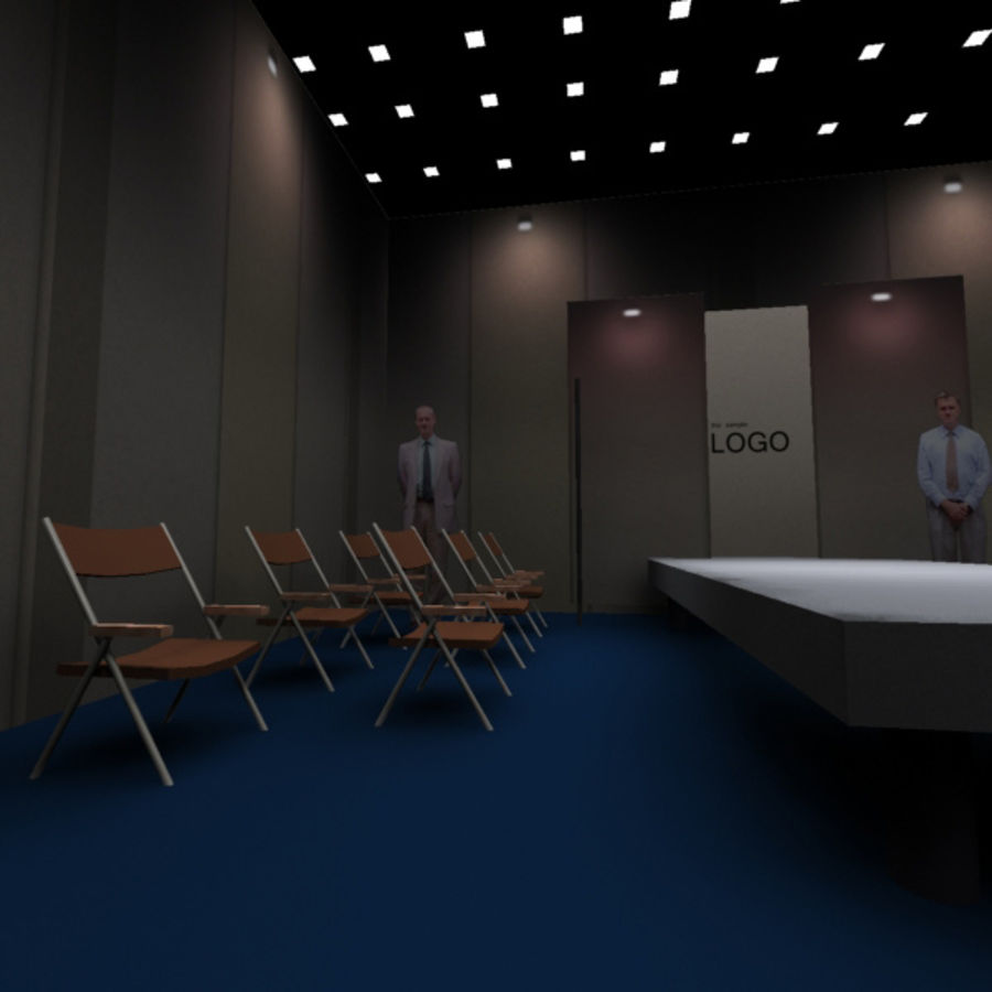 Studio TV Showroom Catwalk royalty-free 3d model - Preview no. 4