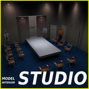 Studio TV Showroom Laufsteg 3d model