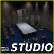 Studio TV Showroom Catwalk 3d model