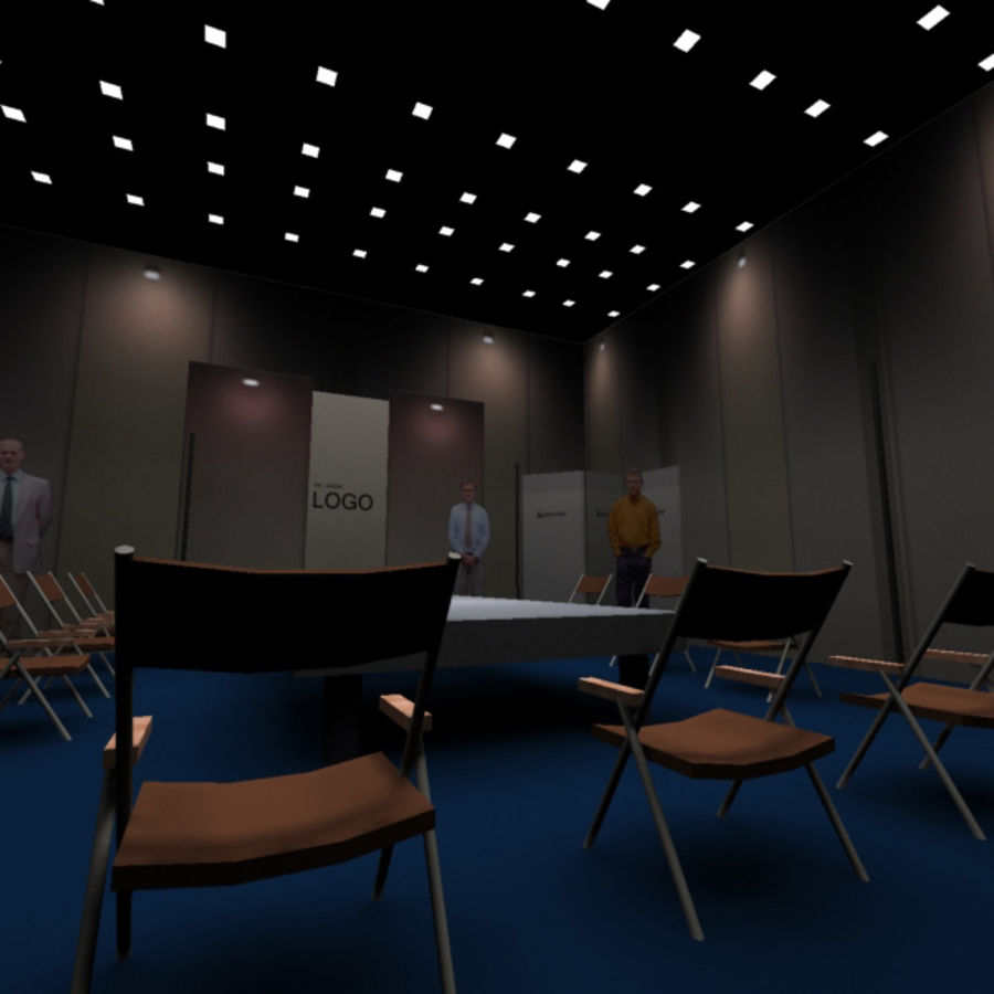 Studio TV Showroom Catwalk royalty-free 3d model - Preview no. 5