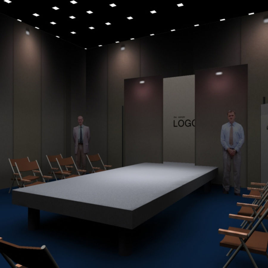Studio TV Showroom Catwalk royalty-free 3d model - Preview no. 2