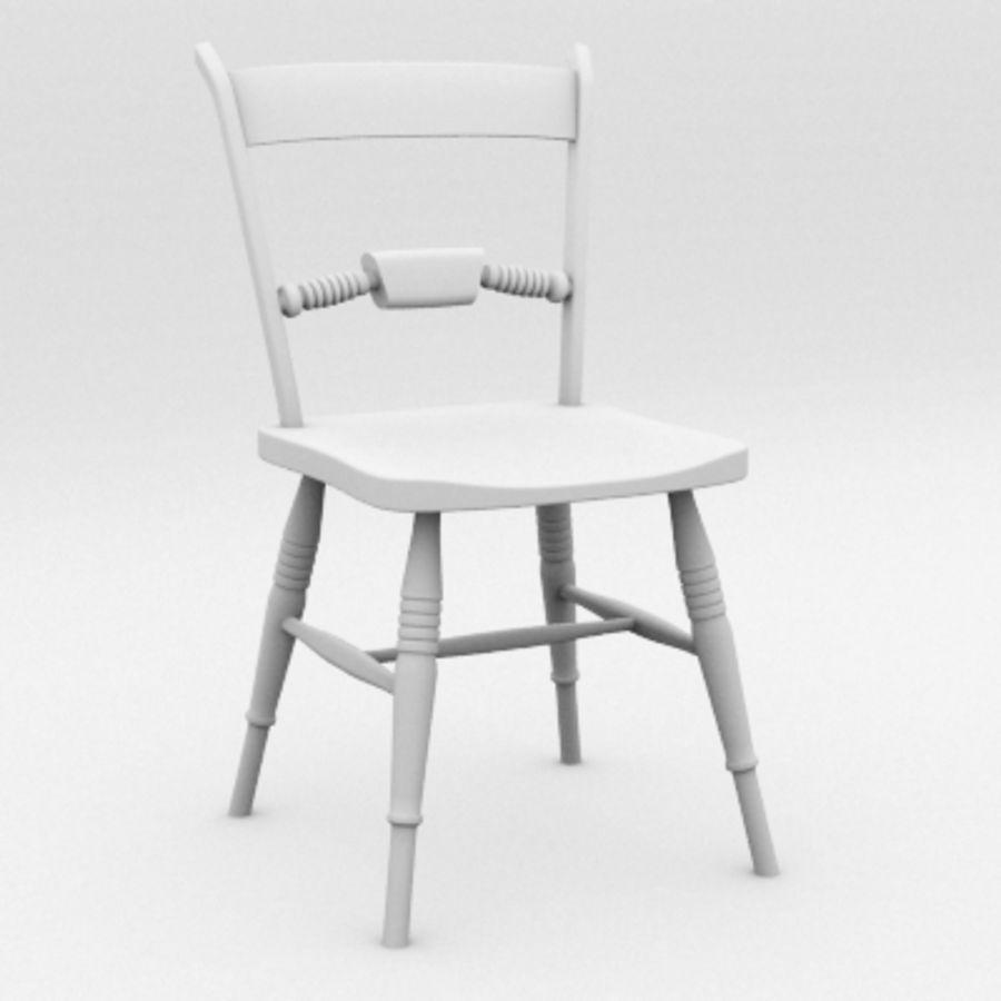 Cadeira de madeira velha royalty-free 3d model - Preview no. 6