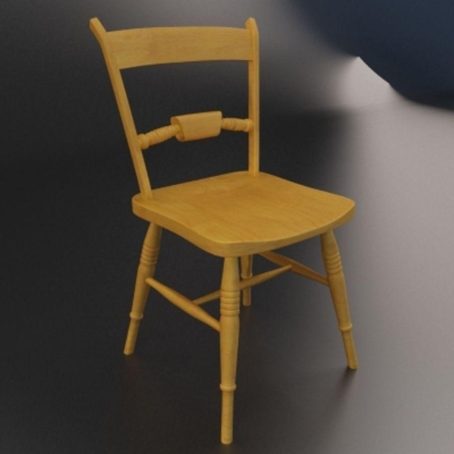 Cadeira de madeira velha royalty-free 3d model - Preview no. 2