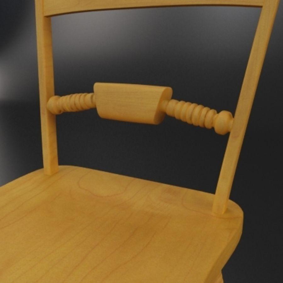 Cadeira de madeira velha royalty-free 3d model - Preview no. 4